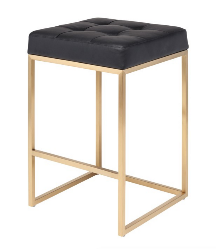 Cube Black Counter Stool