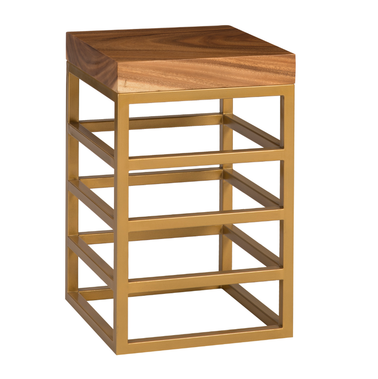 Cube Counter Stool Gold
