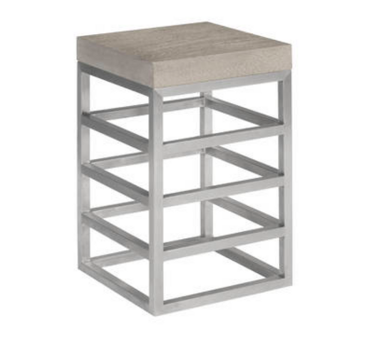 Cube Counter Stool Silver