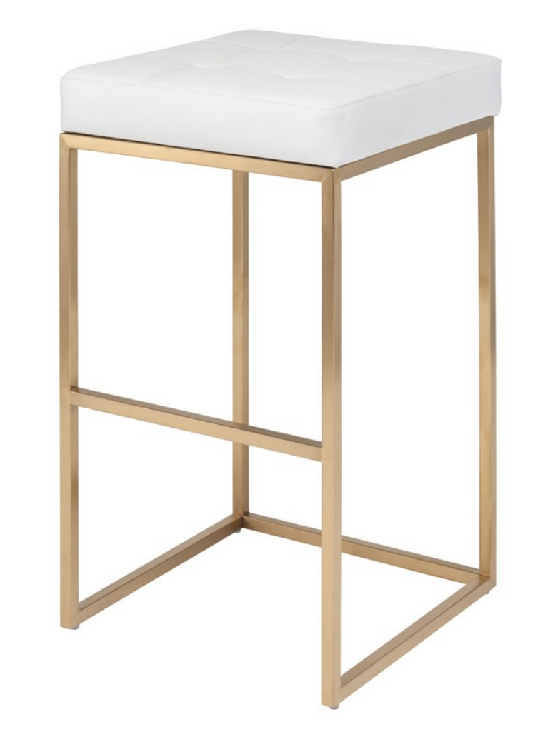 Cube White Bar Stool