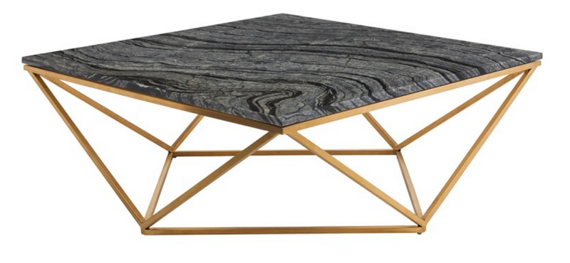 Hera Coffee Table Black & Gold