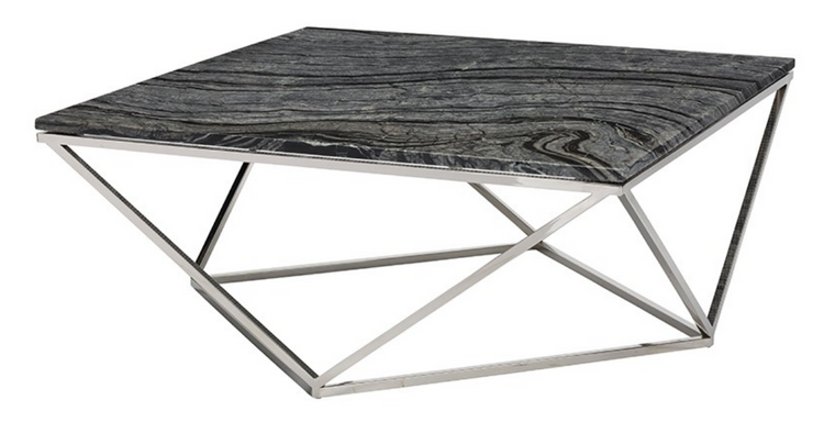 Hera Coffee Table Black & Steel
