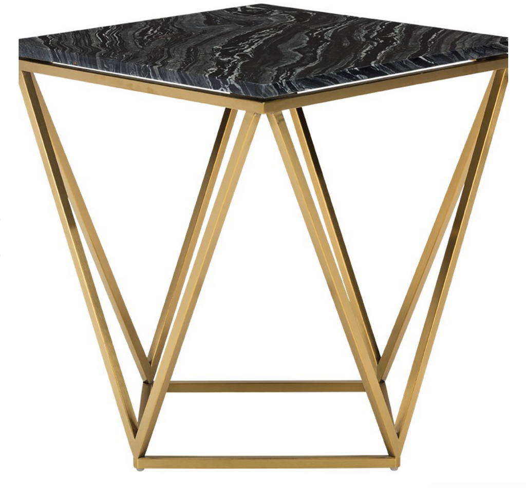 Hera Side Table Black & Gold