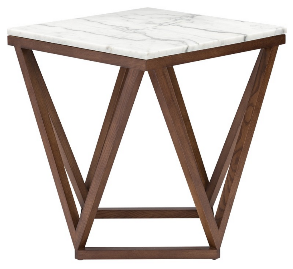 Hera Side Table White & Wood