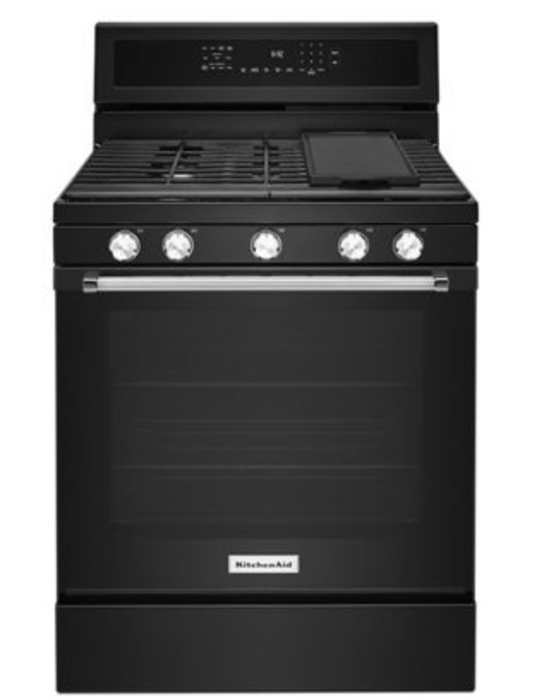 "KitchenAid 30"" Freestanding Gas Convection Range"