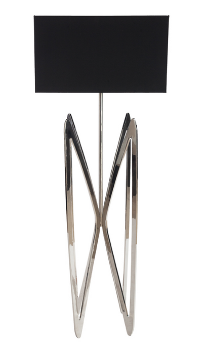 Modern Brass Floor Lamp Silver