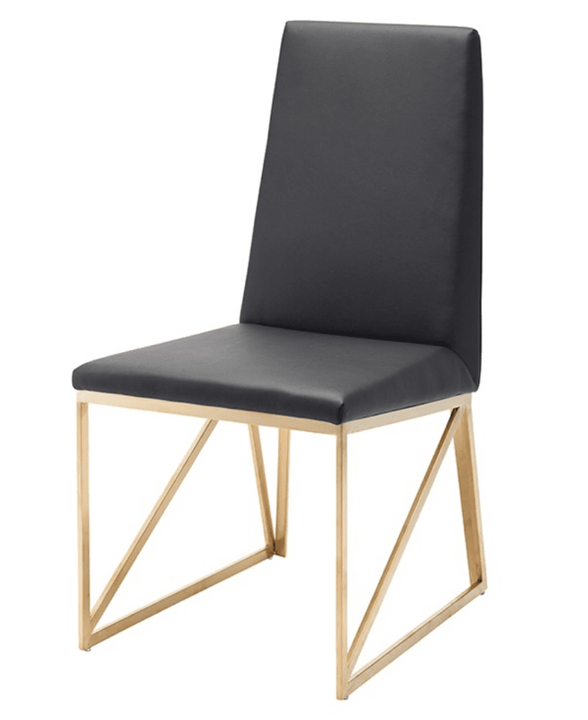 Patrice Black & Gold Dining Chair