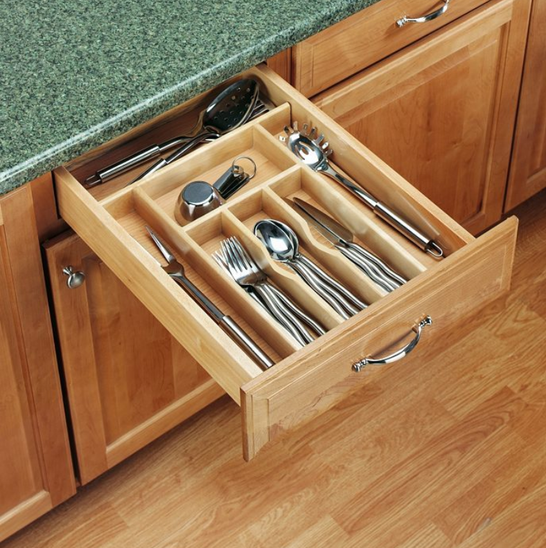 Wood Cutlery Tray