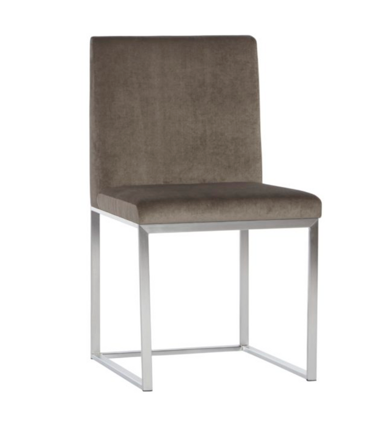 Custom Upholstered & Metal Dining Chair 1