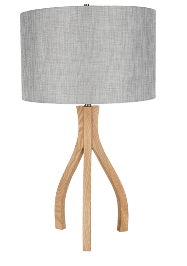 Wood & Grey Table Lamp