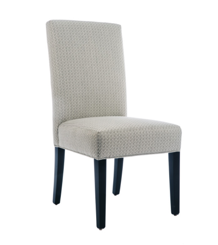 Custom Upholstered Dining Chair 2 armless