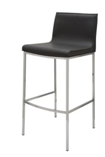 Modern Black Counter Stool