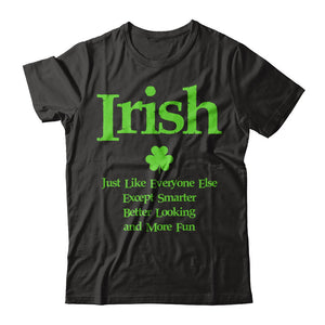 Irish - Smarter, Better Looking, More Fun T Shirts and Hoodies