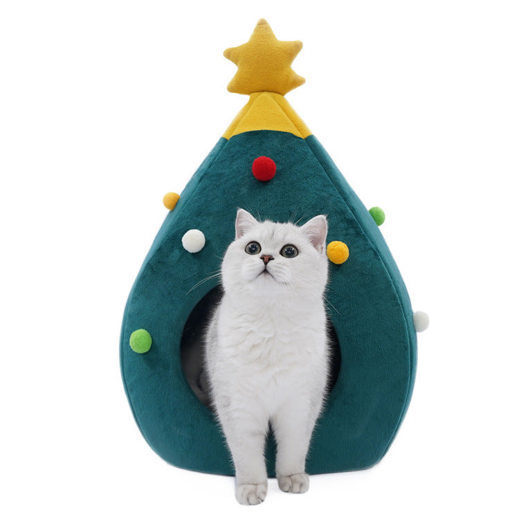 Christmas Tree Cat and Dog Cave
