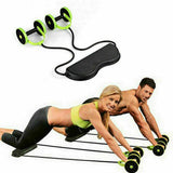 AB Wheel Abdominal Exerciser Waist Slimming Trainer Roller Core Double Fitness