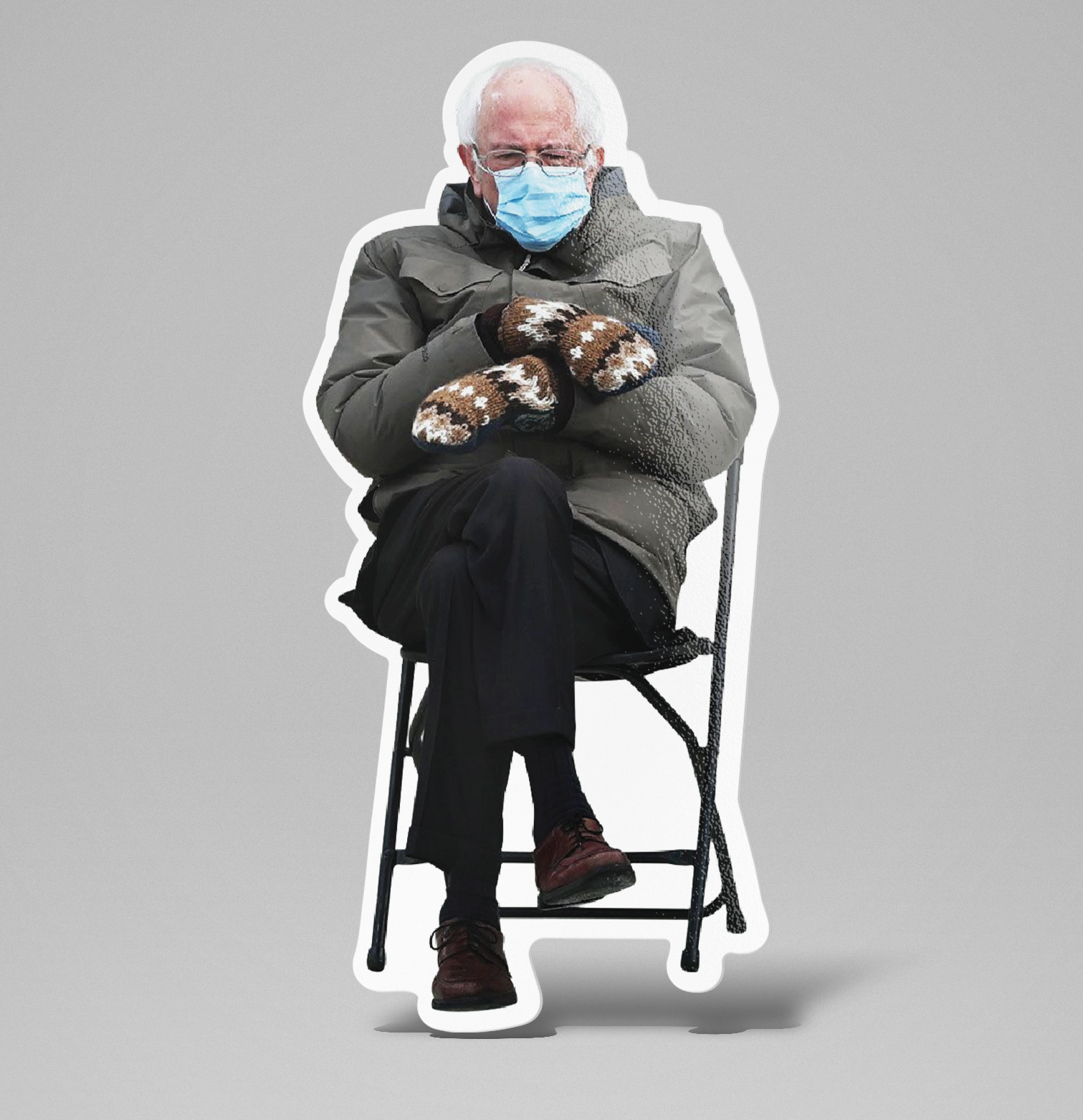 Bernie Sanders Meme Inauguration 2021 / Sticker / Vinyl Decal / Laminated