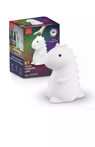 Silicone Tommy Dinosaur White LED Multi-Color TikTok Night Light
