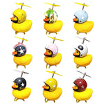 Cute Little Yellow Duck Night Warning Light Bicycle Bike Horn