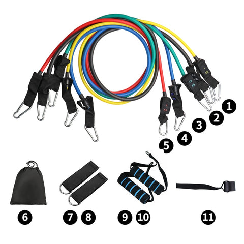 TVSBands™  Resistance Bands (11 pieces set)