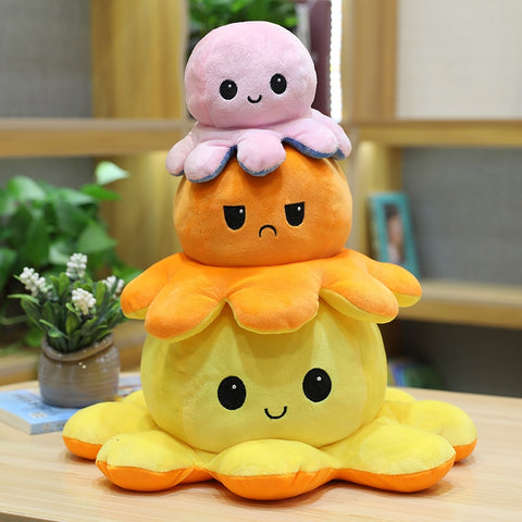 Reversable Octopus Plush Flip Toy
