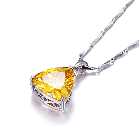 November Yellow Citrine Birthstone Necklace