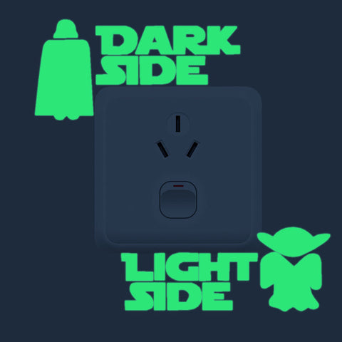DARK SIDE / LIGHT SIDE Fluorescent Wall Stickers
