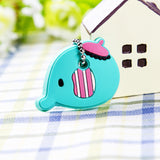Silicone French Bulldog Dog Key Cover