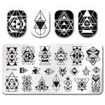 BORN PRETTY 12*6cm Rectangle Nail Stamping Plates