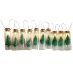 Christmas Tree Mason Bottle Decoration