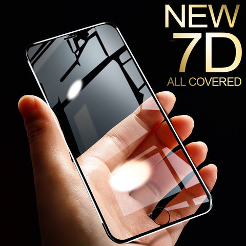 7D Aluminum Tempered Glass For iPhone 6 6S 7  X 8 5 SE 5S