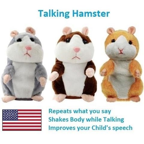 Talking Hamster Electronic Plush Toy