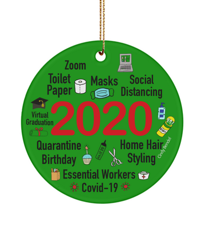 2020 Christmas Quarantine Memories Covid Ceramic Ornament