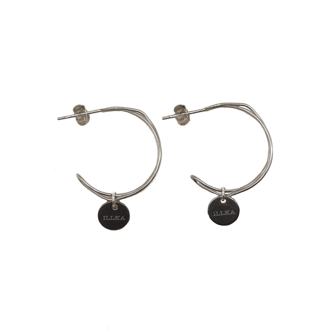 Wired Hoops - Silver