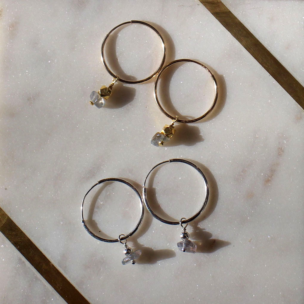 Gemstone Hoops