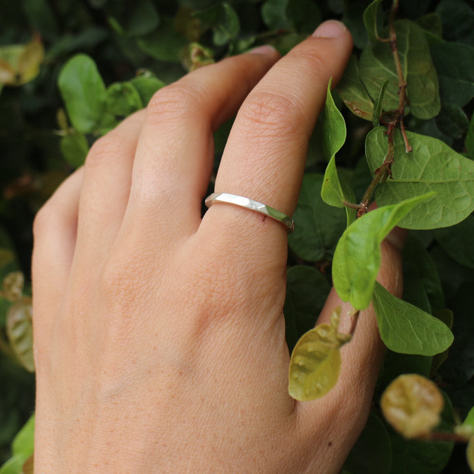 Faceted ring - thin