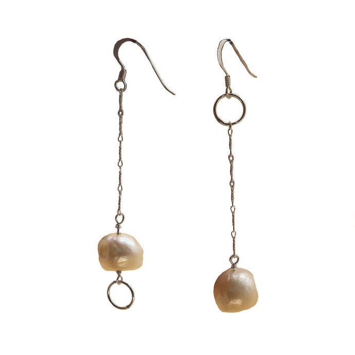 Assymetrical Pearl Earrings