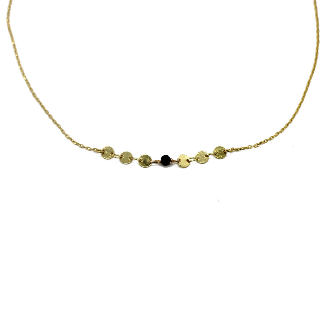 Gold Mini Coin Necklace