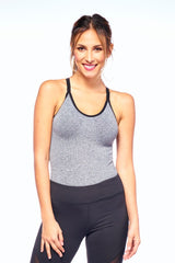 Grey Tank Beyond Bodysuit | Blend In Zen