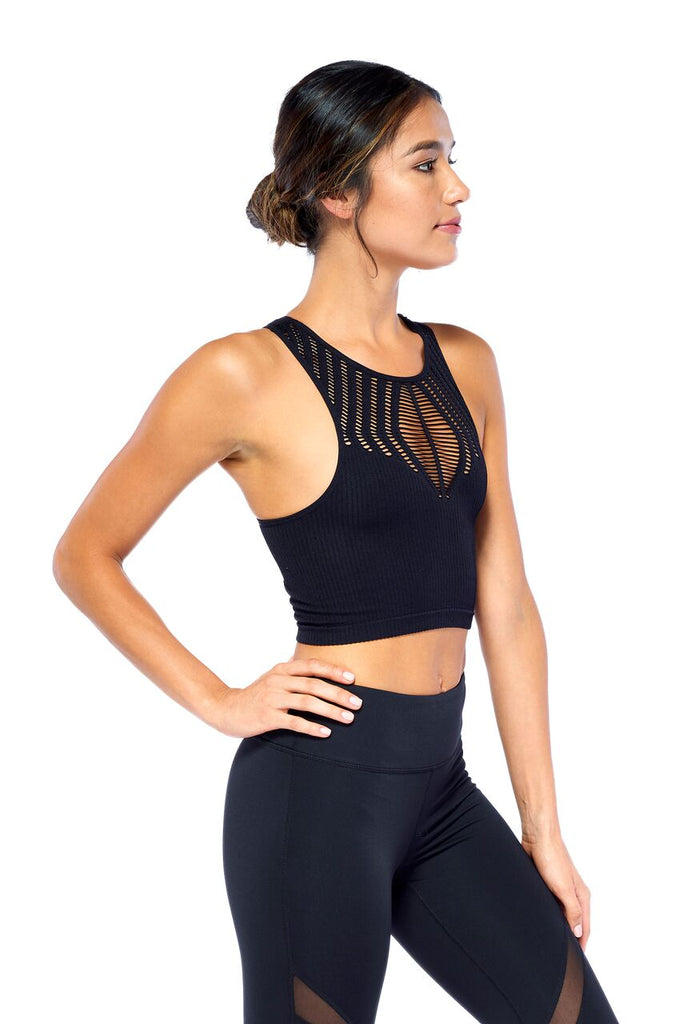 The Halter Cut Out Crop Tank | Blend in Zen