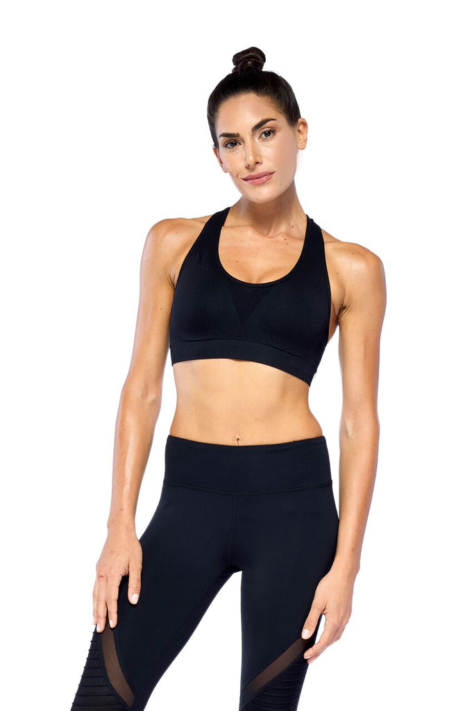 Black Elevate Active Wear Bra | Blend in Zen