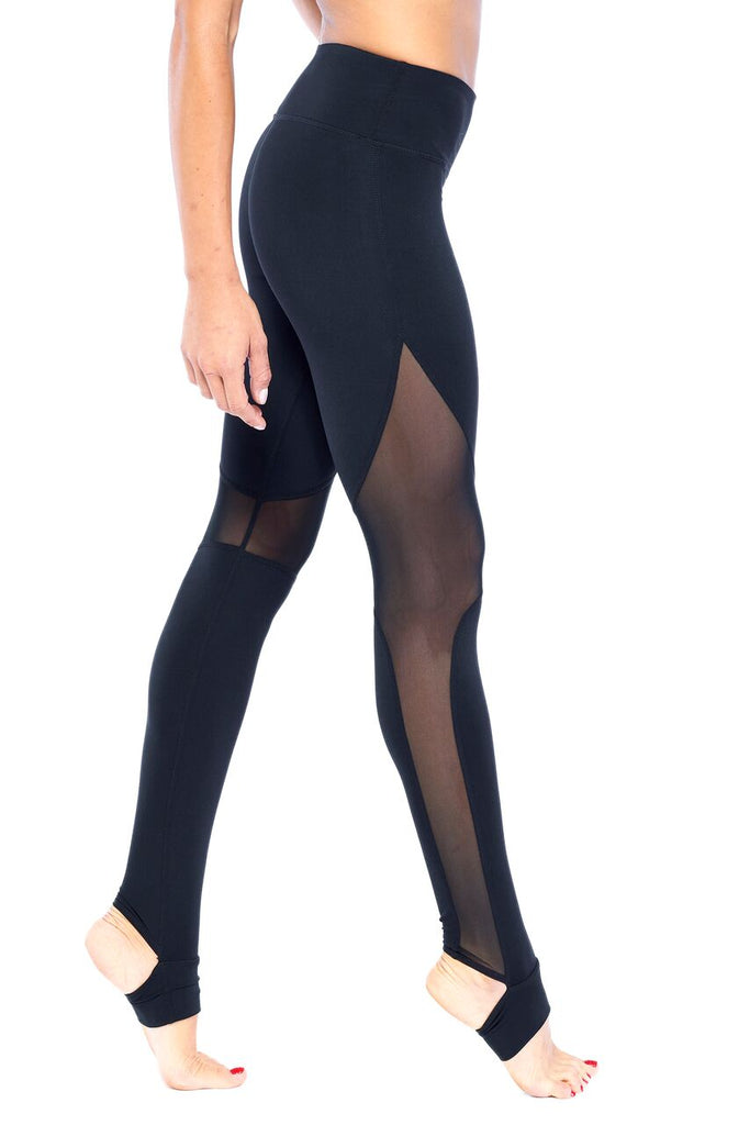 Elevation Black Mesh Active Wear Legging | Blend in Zen