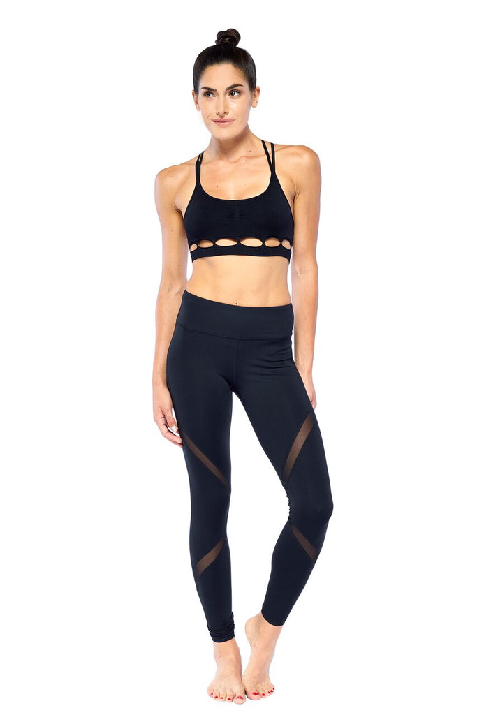 Hero Black Mesh Legging | Blend in Zen