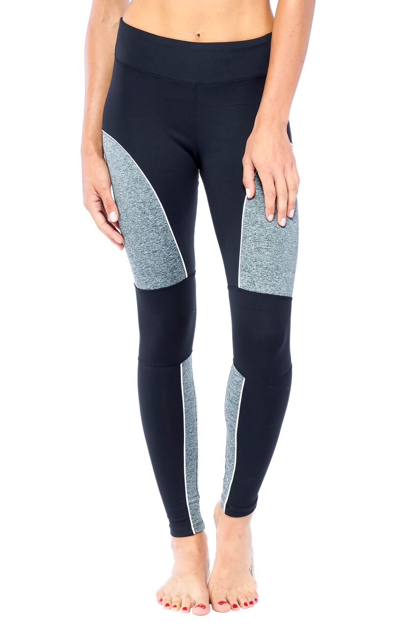 Blend In Zen Mesh-Pipe Legging-Heather Grey