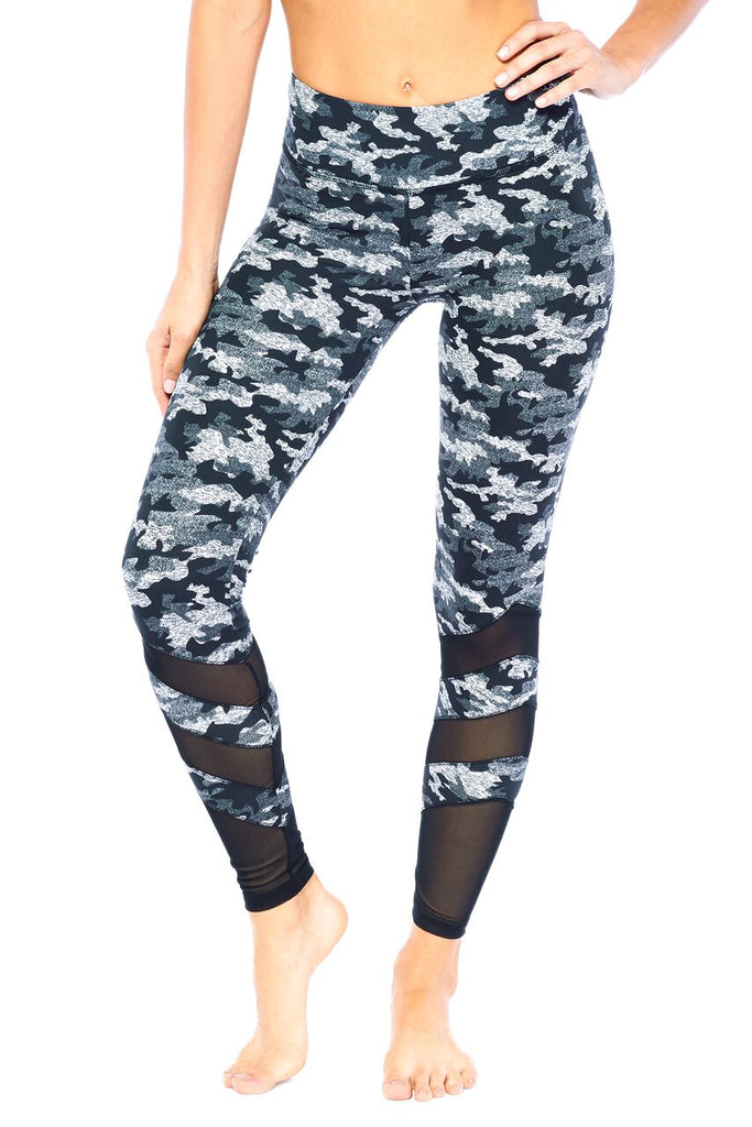 Mission Camo Print Mesh Legging | Blend in Zen