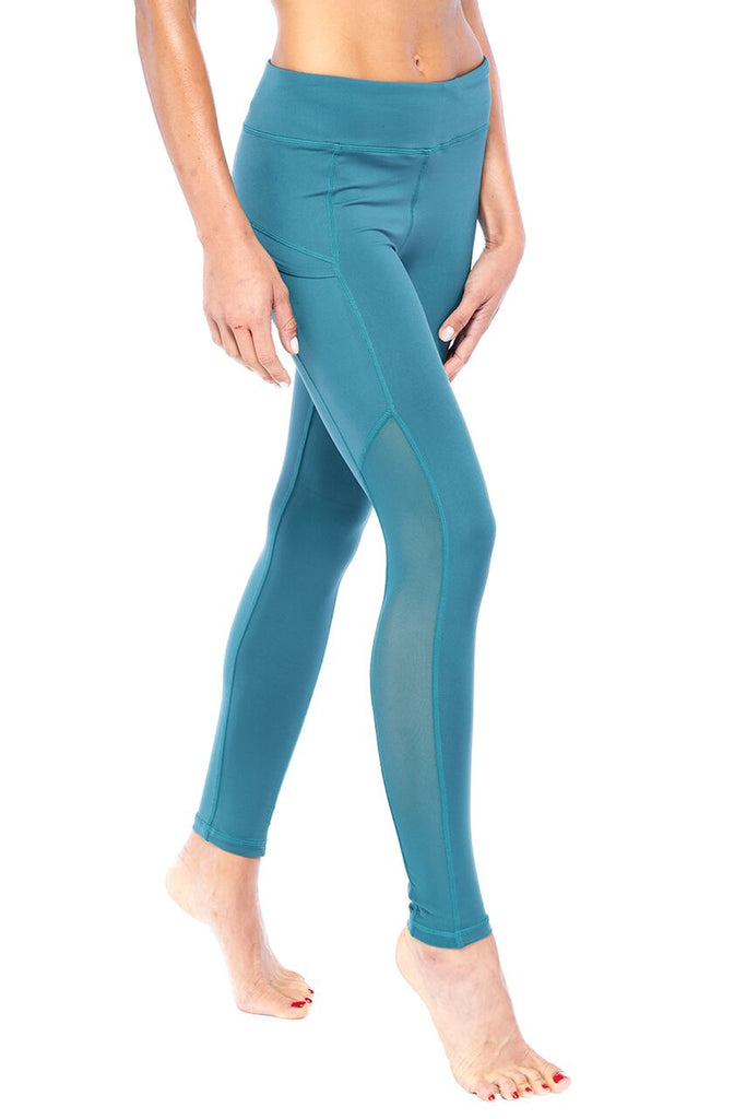 Teal Pocket-it Active Wear Legging | Blend in Zen