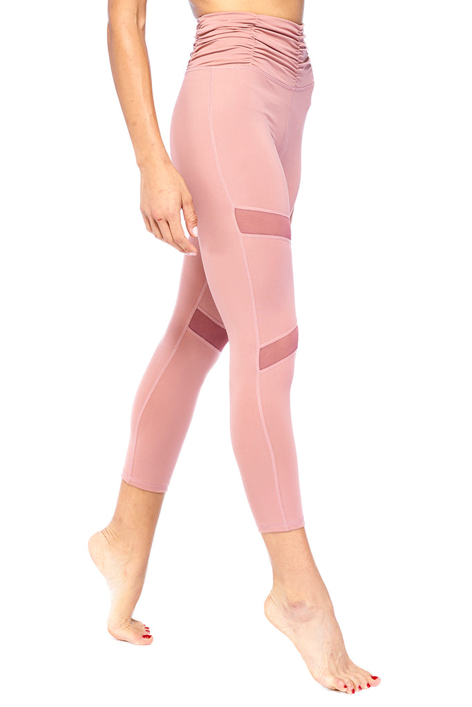 Rouged Blush Pink High Waisted Legging | Blend in Zen