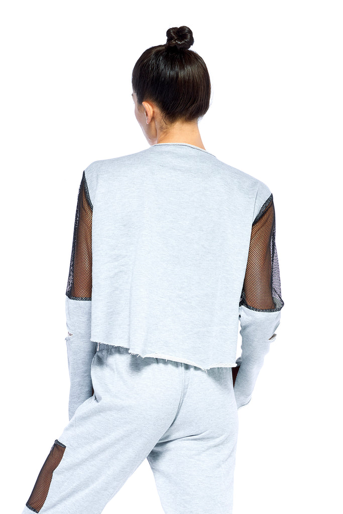 Heather Grey Warrior Sweatshirt | Blend in Zen