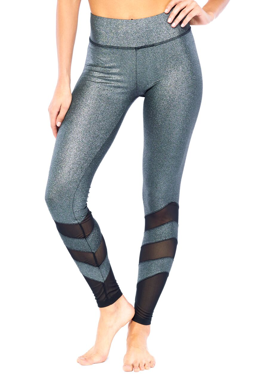 Glam Leggings-Gunmetal