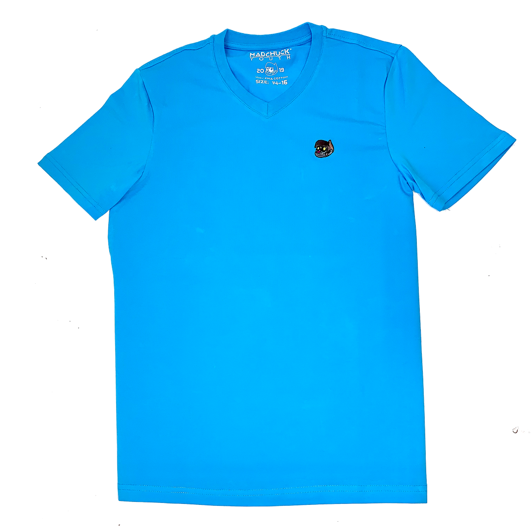 MΔD YOUTH Turquoise V Neck T Shirt