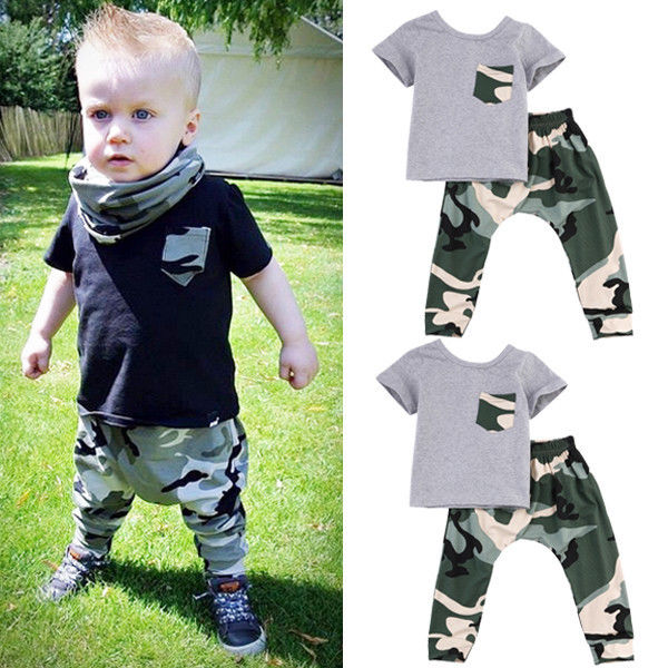 Military Camo Outfit for 3 - 24 Months - lil giggles baby supply